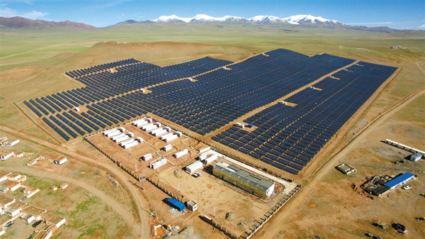 Shuanghu baut Photovoltaik-Kraftwerk
