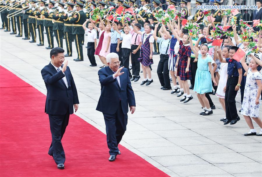 Xi Jinping führt mit palästinensischem Präsidenten Abbas Gespräche