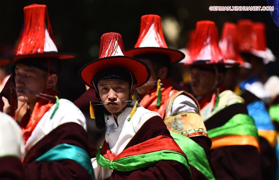 Eine Ritualzeremonie in Qinghai