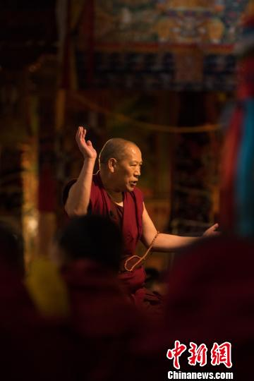 9 Tibetan monks take Geshe Lharamba summer pre-exam