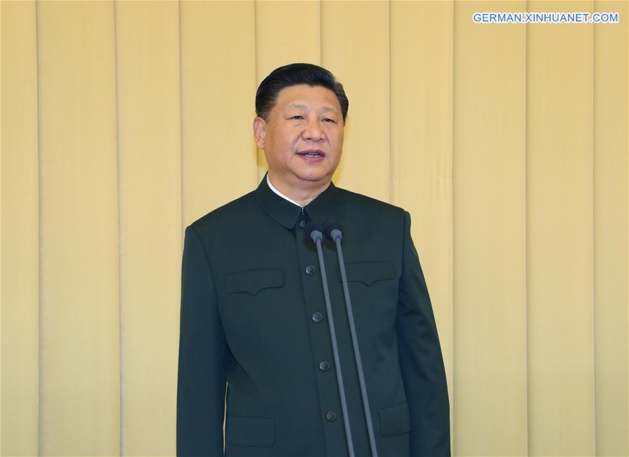 Xi Jinping nimmt an Symposium mit Leitern der militärischen Forschungs- und Ausbildungsinstitutionen teil