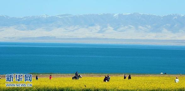 青海湖以最美姿态迎接环湖赛