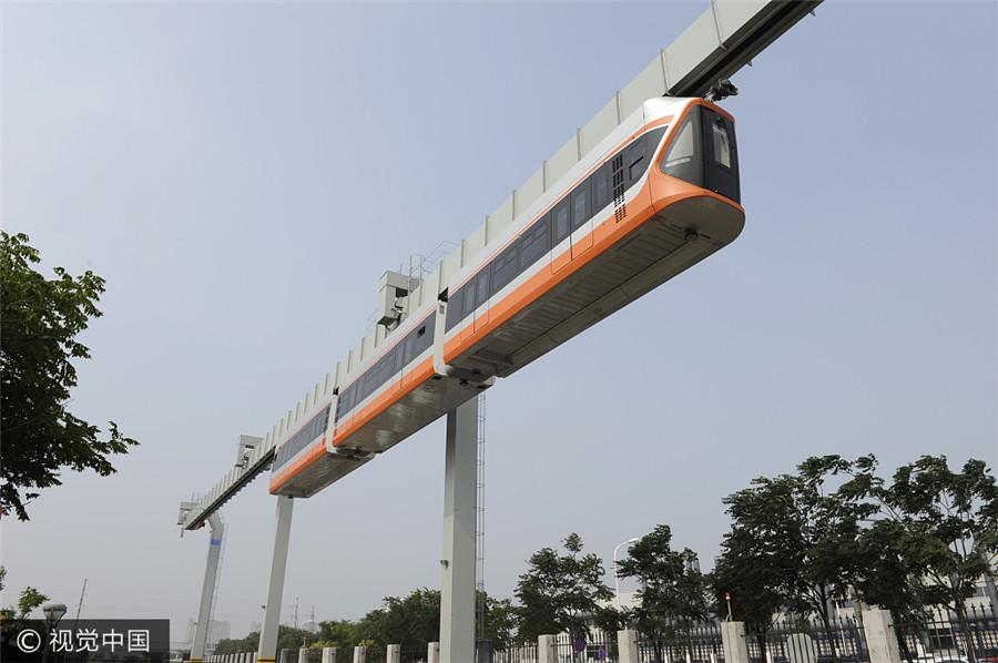 Qingdao: Hängebahn startet Testfahrt