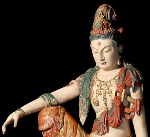 Manuell gefertigte Buddhastatuen