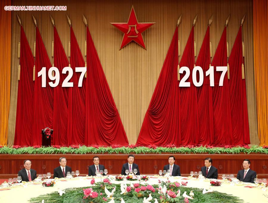 Xi Jinping nimmt an einem Empfang zum Gründungsjubiläum der VBA teil