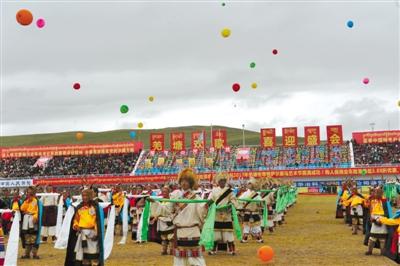 羌塘恰青格萨尔赛马艺术节开幕侧记