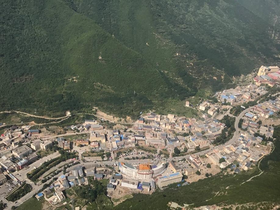 Luftaufnahmen von Zhangzha, Jiuzhaigou nach Beben