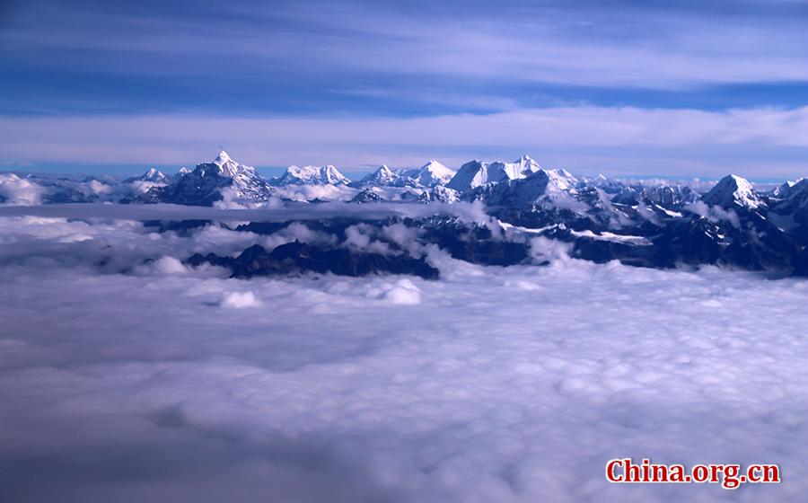 Aerial views of the Himalayas