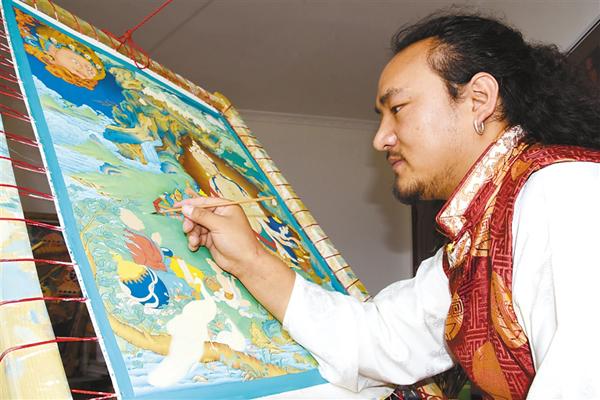 Der Thangka-Maler Qomochio