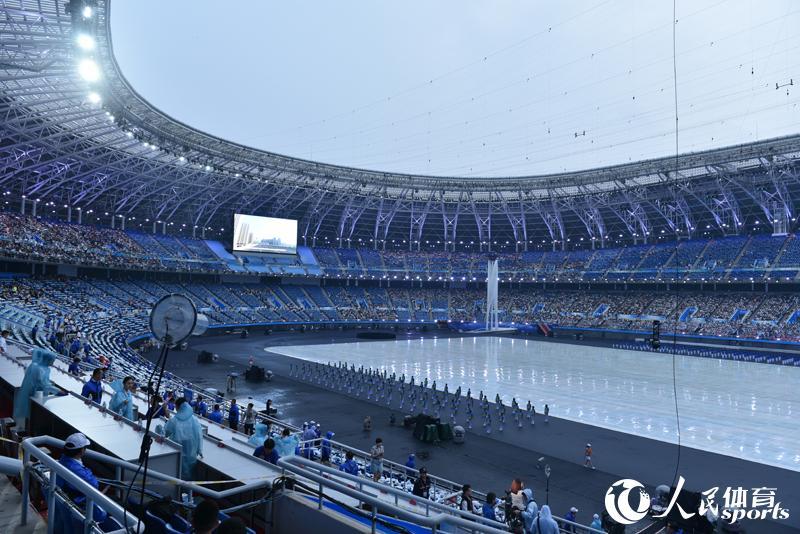 高清:第十三届全运会即将开幕直击开幕式现场