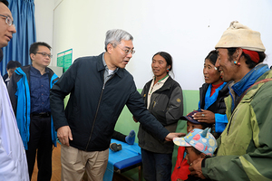 上海市代表团在西藏学习考察