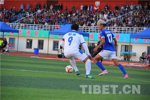 西藏首支职业足球俱乐部队主场3:1获胜有望挺进八强