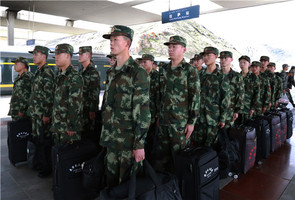 武警西藏森林总队迎来今年首批内地入伍新兵