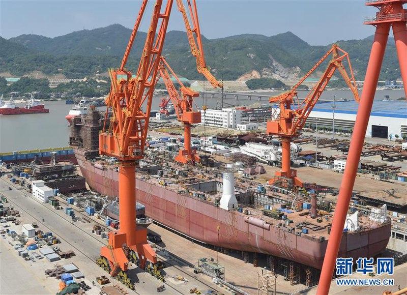 China baut das welterste Tiefseebergbauschiff