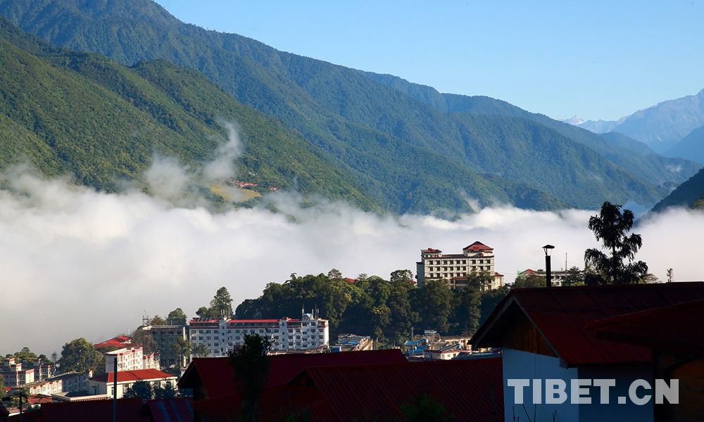 SW China's Motok Village in the  mist