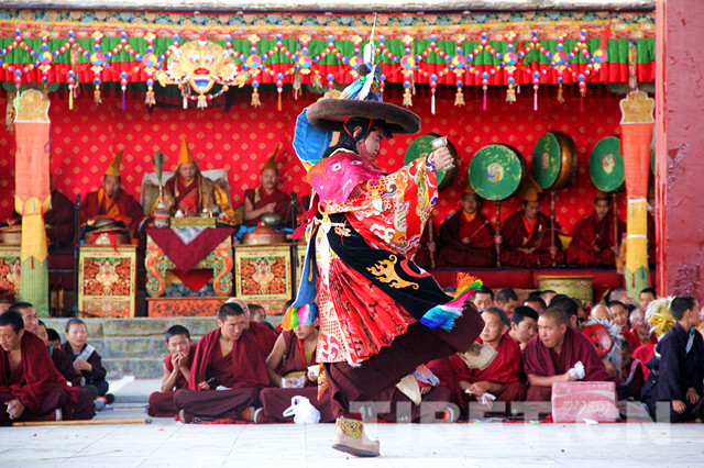 Cham dance performed at Tashilhunpo Monastery in SW Tibet