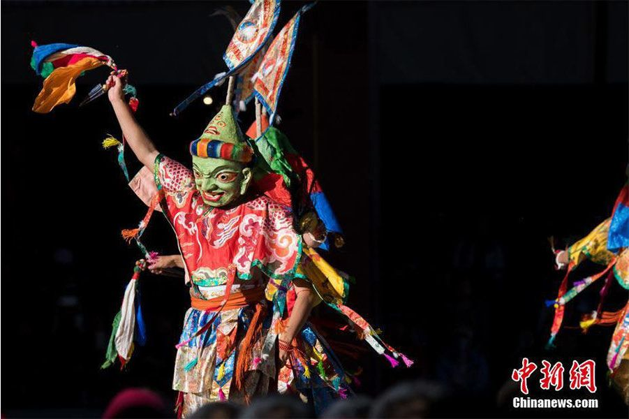 Cham dance performed at Tashilhunpo Monastery in Tibet