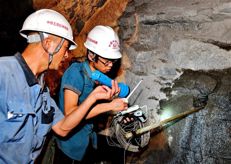 Temperaturabsenkung zugunsten des Baufortschritts der Eisenbahn Sichuan-Tibet
