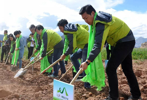 """Umweltschutz: Aktion """"Grüner Hada"""" pflanzt über 667㎡ Grasfläche in Tibet"""