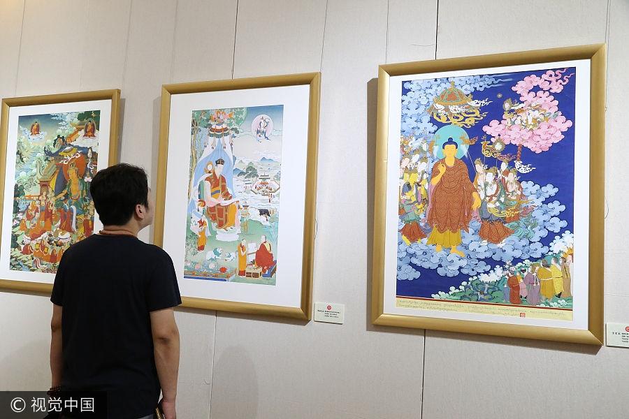 Thangka art exhibition held in Beijing