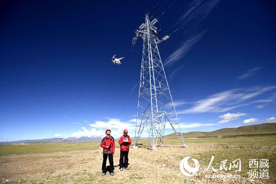 西藏电网首次采用无人机验收线路