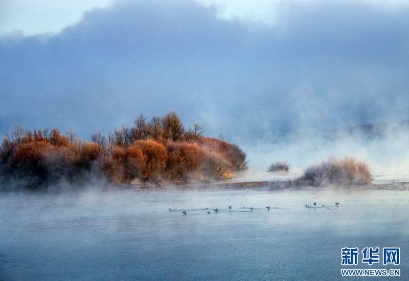Winter scenery in northwest China's Qinghai