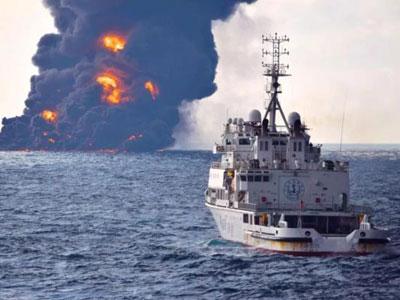 """Öltanker """"Sanchi"""" sinkt im Ostchinesischen Meer"""