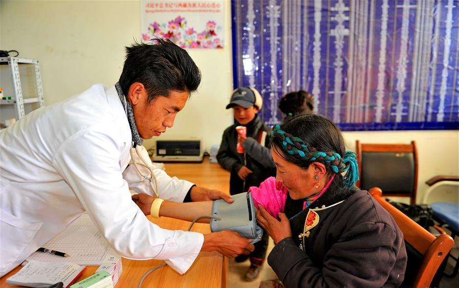 Tibet health center doctor Wangzhab