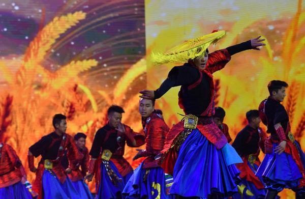 Probe der Kulturgala für Frühlingsfest und tibetisches Neujahr 2018