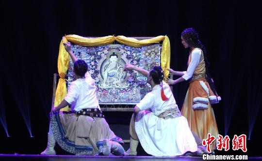 Dance drama themed on Thangka painting performed in North China