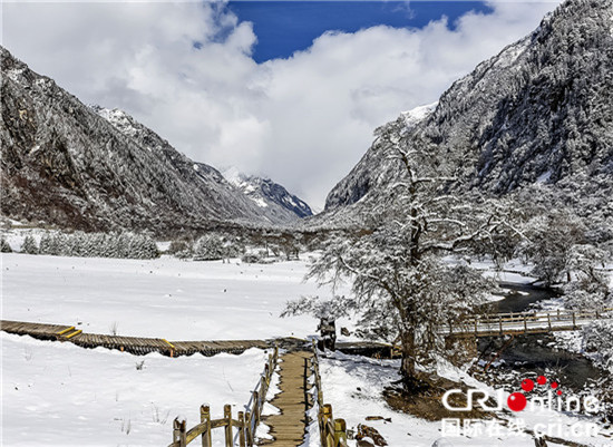 Siguniang-Gebirge im Winter