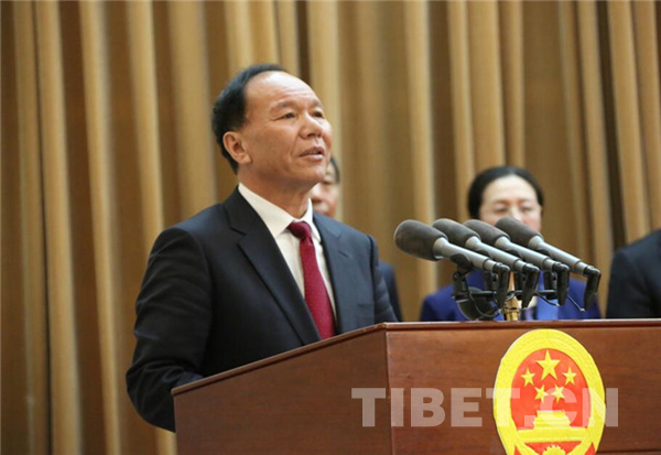 Qi Zhala re-elected as chairman of southwest China's Tibet Autonomous Region