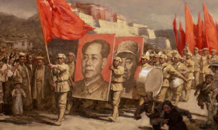 壮哉美兮!画家于小冬创作《西藏和平解放》草图