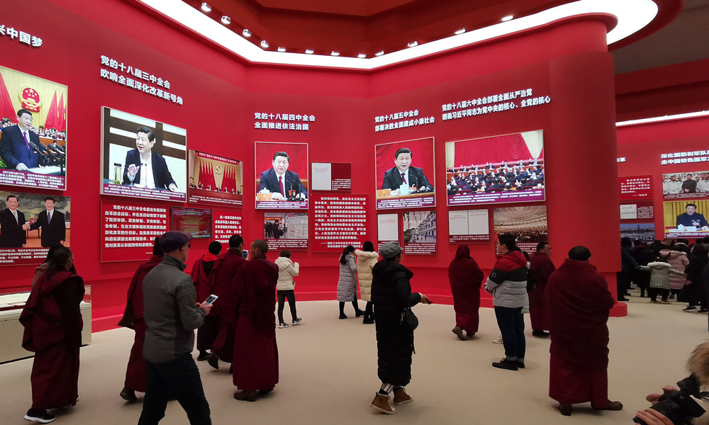 """中国藏语系初级梵学院学员观展""""巨大的厘革"""" 婉言故国真强盛!"""