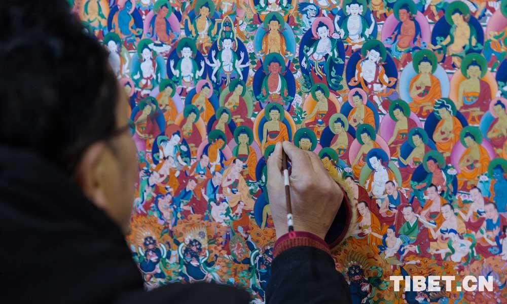 郎卡杰唐卡画院中的文化传承