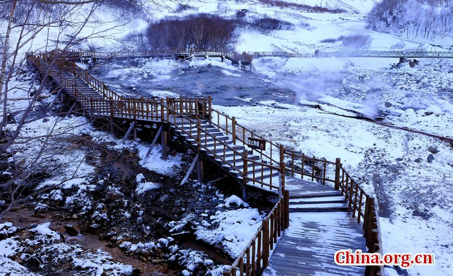 Faszinierende Winterlandschaft des Changbai-Bergs
