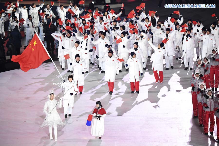 Die Olympischen Winterspiele 2018 in PyeongChang eröffnet