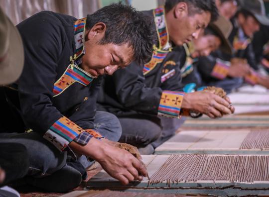 Tibetischer Weihrauch zum neuen Jahr