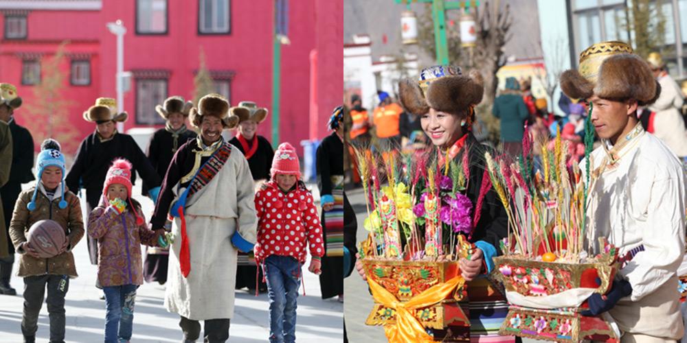 """西藏各族群众欢度""""双节"""""""