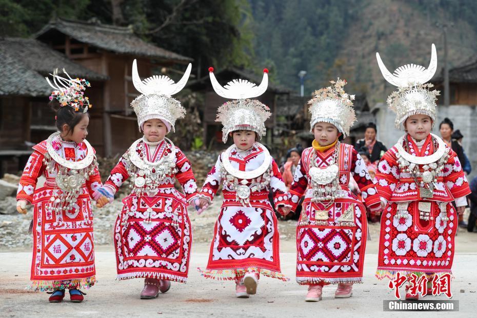 Guizhou: Feiern der Miao-Nationalität zum Frühlingsfest