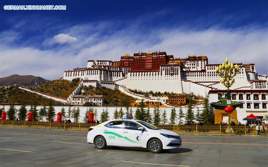 Anzahl der neuen Energiebusse in Lhasa steigt auf 312