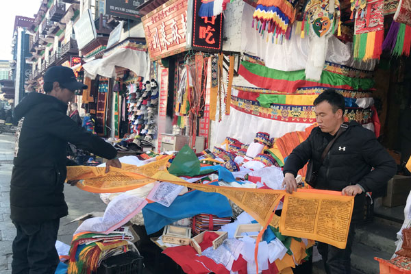 Prayer flags bring blessings to those who sew them