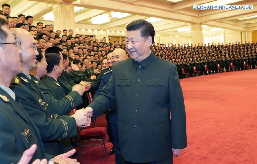 Xi trifft Delegierte des Parteitags der bewaffneten Polizeitruppe
