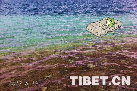 """Ansichtskarte aus Tibet von """"Travel Frog"""""""