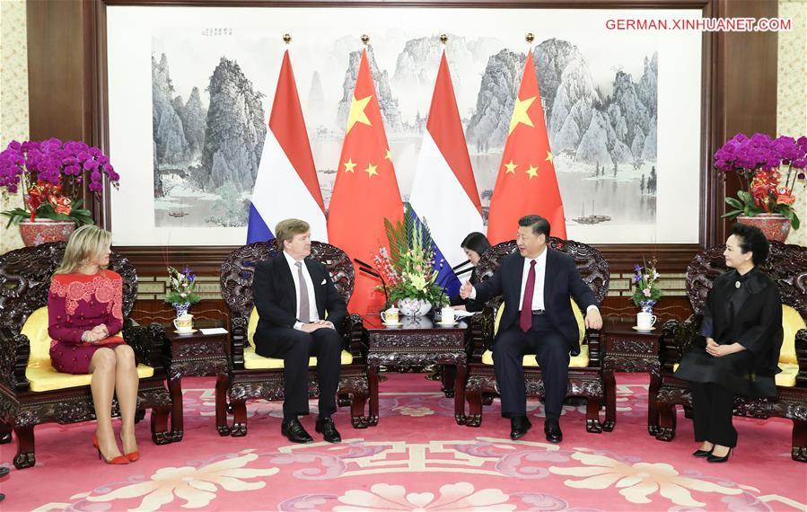 Xi Jinping trifft niederländischen König Willem-Alexander