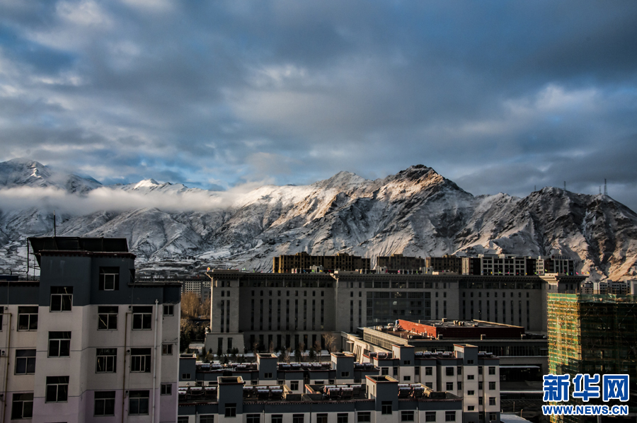 Beautiful snowscape of Lhasa