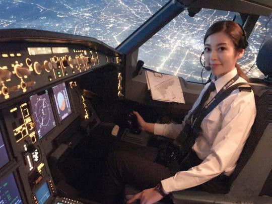 Die Pilotin der Hochlandsflugroute