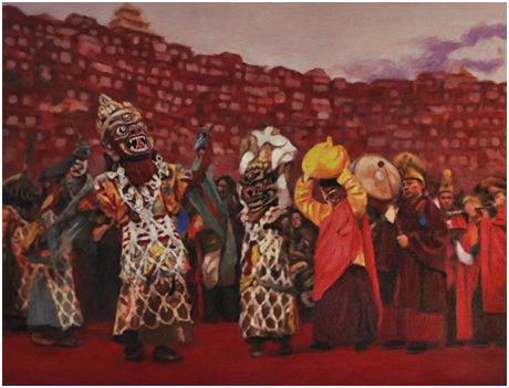 Ausstellung tibetischer Ölgemälde in Shanghai