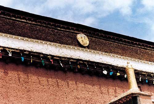 Die Benma-Mauern in den traditionellen tibetischen Gebäuden