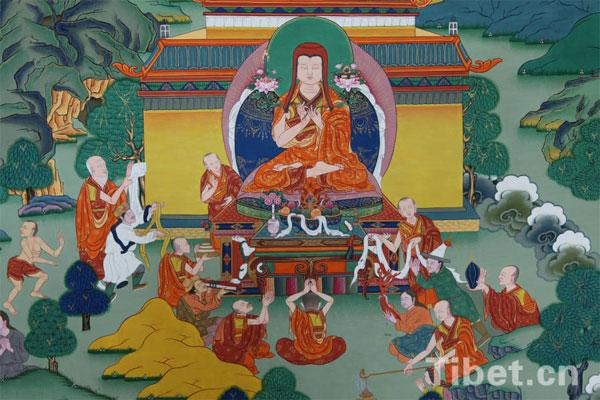 Bündnistreffen von Sakya Pandita in Liangzhou